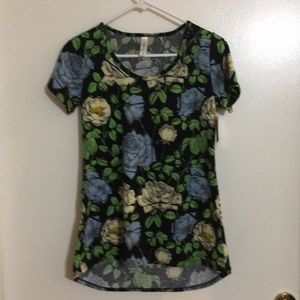 NWT Floral patterned Classic Tee from LuLaRoe XXS